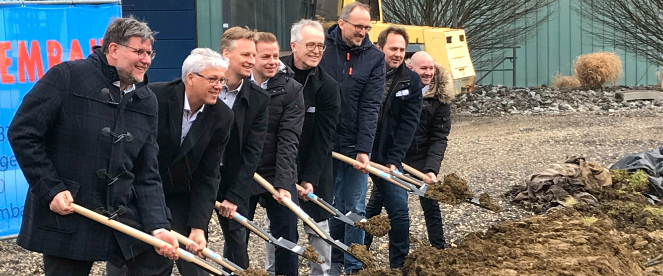 SGround-breaking ceremony for the new Lechler building logistics center and production