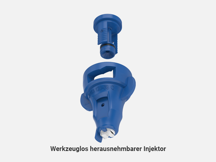 Toolless removable injector