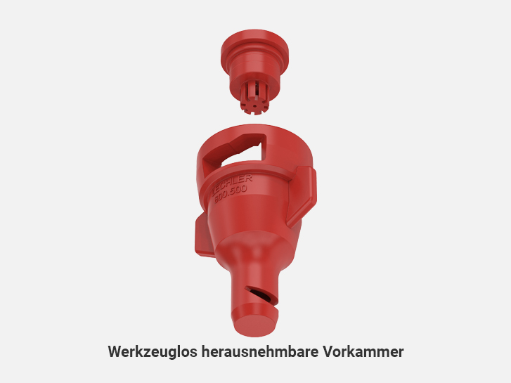 Toolless removable dosing orifice of Liquid fertilizer nozzles FD