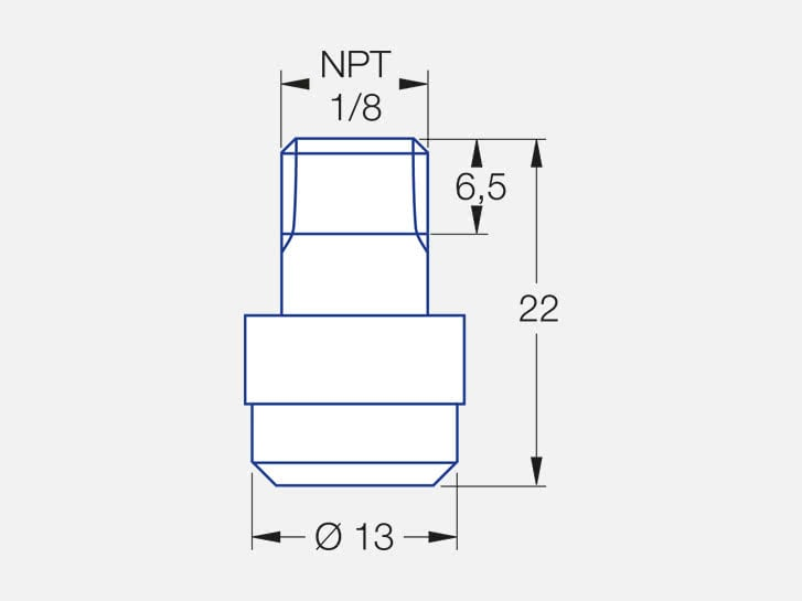 High and medium-pressure cleaning nozzles, flat spray nozzle, engineering drawing
