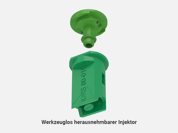 Toolless removable injector of Air-injector off center compact nozzles IDKS